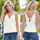 Sexy Womens Summer V Neck Vest Top Sleeveless Blouse Casual Tank Tops T-Shirt