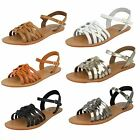 Ladies Leather Collection Flat Sandals UK Sizes 3-8 F0928