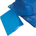 7 Sizes of Tarpaulin Blue Waterproof Strong Cover Ground Sheet Tarp Camping