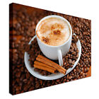 Cappuccino Cinnamon Spilled Coffee Beans Canvas Wall Art prints high quality
