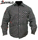 Divalo Motorbike Shirts Red/Blk - With Kevlar Lining Inside