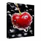 Cherrie With Hits Drop Of Water Canvas Wall Art prints high quality