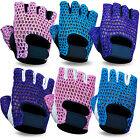 Ladies Weight Lifting Gloves Padded Gym Workout Mesh Leather Body Building Glove