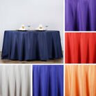 """12 pcs Wholesale Lot 132"""" ROUND POLYESTER TABLECLOTHS Wedding Party Decorations"""