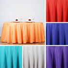 """10 pcs Wholesale Lot 132"""" ROUND POLYESTER TABLECLOTHS Extra Wide Wedding Linens"""