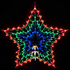 100 Bulb Multi Function Coloured Star Indoor Festive Christmas Light Decoration