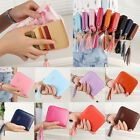 Womens Fashion Leather Small Wallet Card Holder Zip Coin Purse Clutch Handbag