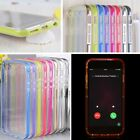 LED Flash Light UP Remind Incoming Call Cover Case Skin For iPhone SE 6/6S Plus