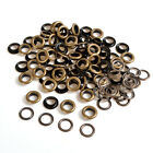 Antique Brass Eyelet 100 Sets 4/5/6/8/10mm w/Washer Grommets Leather Craft New