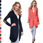 Glamour Empire. Women's Longline Jersey Cardigan Elbow Patches Size UK 10-16 286
