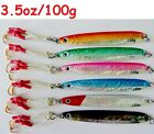 Knife Jigs 3.5oz/100g Vertical Speed Saltwater Fish Lures 6 Pieces Choose Colors