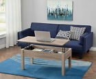 Lift Top Coffee Table Laptop Stand TV Tray Storage Game Ottoman Wood Rustic