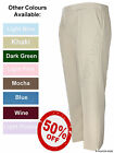 Ladies Elasticated Waist Trousers Sizes 8 10 12 14 16 18 20 22 24 26 Colours