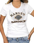 Harley-Davidson Ladies Chrome Ink B&S Wings White Short Sleeve Jersey T-Shirt