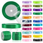 "25/50 Yards Roll Satin Ribbon 1/8"" 1/4"" 3/8"" 5/8"" 2"" 3/2"" Wedding Party DIY"