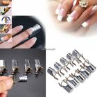 Nail Art Reusable UV Gel 10Pcs French Tips Acrylic Extension Guide Form C1MY