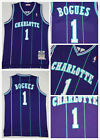 Charlotte Hornets #1 Muggsy Bogues Men's Swingman Jersey Purple