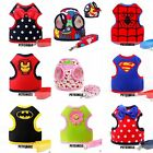 NEW Cartoon 10 Styles Dog Cat Harness Leashes Breathable Soft S M L
