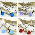 New arrival 8mm candy color jade star dangle earrings women charms jewelry B1758