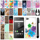 "For Sony Xperia Z5 Compact 4.6"" PATTERN HARD Back Case Phone Cover + Pen"