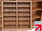 Solid Pine Bookcase, 6ft x 6ft Adjustable Display Shelving Unit, Bookshelves