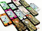 CAMO HYBRID RUGGED HARD CASE FOR APPLE iPHONE 5C [FITS OTTERBOX DEFENDER CLIP]
