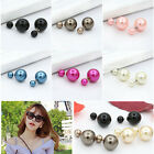 Fashion Pearl Ear-Stud Jewelry Colors 16MM Ball Double Side Earrings for Women