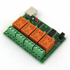 USB Relay 4 Channel Board v2 Programmable PC Computer Control For Smart Home