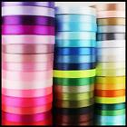 5m Double Sided Quality Satin Ribbon Roll Long Lengths Width 6,10,15, 25 & 38mm