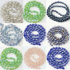 Faceted crystal glass waterdrop 8x11mm high quality beads jewelry 60pcs B1175