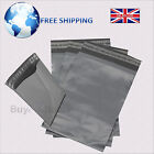 "Grey Plastic Mailing Bags with Self Seal - 17"" x 24"" - Strong Postage Poly Sacks"