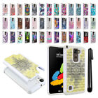 For LG Stylus 2 LS775 K520 Stylo 2 Studded Bling HYBRID Case Phone Cover + Pen