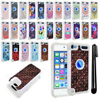 For Apple iPod Touch 5 5th 6 6th Gen Studded Bling HYBRID Case Phone Cover + Pen