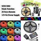 Cool 5M LED RGB Strip Light Sound Activated Music Color Change Lamp Light+Remote