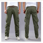 Men's Cotton Cargo ARMY Pants Military Camouflage Trousers Multypocket Pants