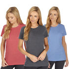 Ladies Womens Loose Short Sleeve Casual T-Shirt Plain Top Blouse Athletic Sports