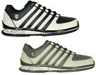 BRAND NEW MENS K.SWISS RINZLER LACE UP TRAINERS FOOTWEAR IN WHITE-GREY COLOURS