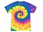 Tie Dye T-Shirts, Neon Rainbow, Youth XS - Youth L, Short Sleeve, 100 Cotton