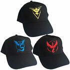 Team Valor Mystic Instinct Embroidered Baseball Cap - Pokemon GO Fan Unisex Hat