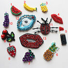 5-30pcs eyes lips grape sequins Rhinestones beads appliques patches brooch 4118