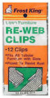 Thermwell Products CL1 Clips for Lawn Chair Webbing, 12-Pk.