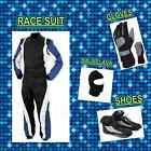 Black nd Blue Go Kart pack (includes Suit, Gloves, Balaclava, Shoes & free bag)