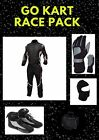 Red n White Go Kart Race suit (includes Suit, Gloves, Balaclava & Shoes)free bag