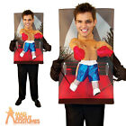 Adult Teenie Weenies Boxer Costume Funny Stag Novelty Fancy Dress Outfit New