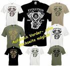 Bikershirt EVOLUTION Motor T-Shirt EVO Shovelhead Twin Cam Chopper Bobber