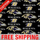 "Baltimore Ravens NFL Cotton Fabric - 60"" Wide - Style# 6041 - Free Shipping!! $15.95 USD on eBay"