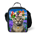 Kids Animal Cat Dog Cooler Thermal Lunch Bag Food Bento Box Storage Containers