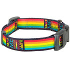 Blueberry Pet Five Color Rainbow Stripes Designer Adjustable Dog Collar,XS S M L