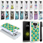For LG G5 H850 VS987 Crystal Bling HYBRID Case Protective Phone Cover + Pen