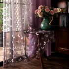 A panel top embroidery Butterfly Voile Purple yellow green Window lace Curtains